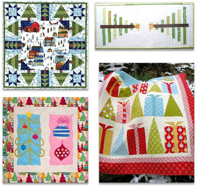Button Ornaments Advent Wall Quilt - Free Patterns