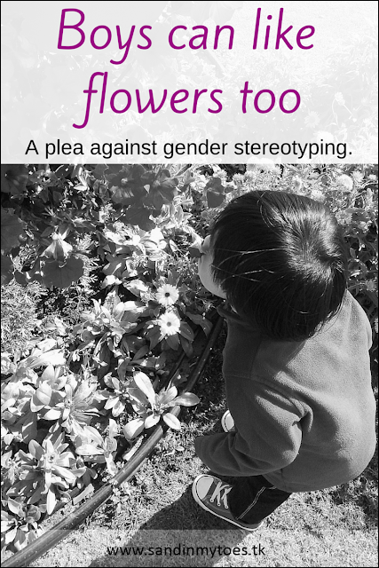 Our experience with gender stereotyping, and why it's okay if my son likes flowers.