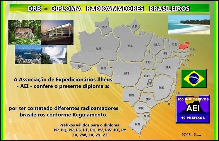 DRB-DIPLOMA RADIOAMADORES BRASILEIROS