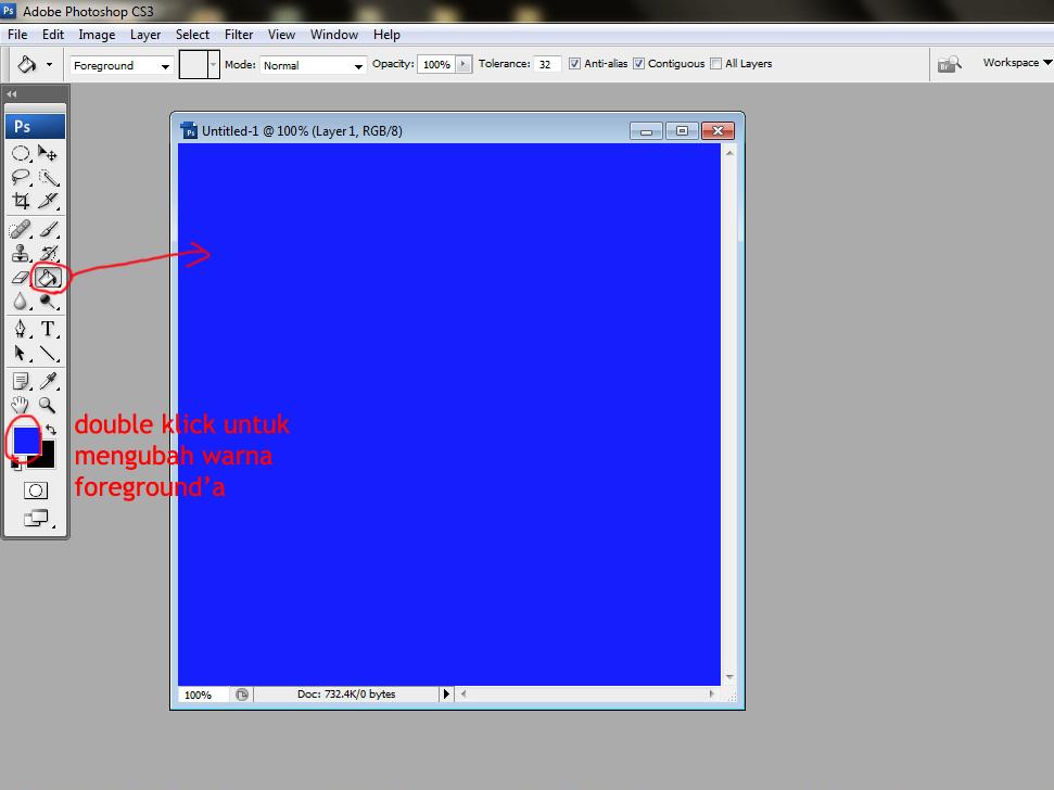Cara membuat logo Adobe Photoshop CS3 - Kreasi Photoshop