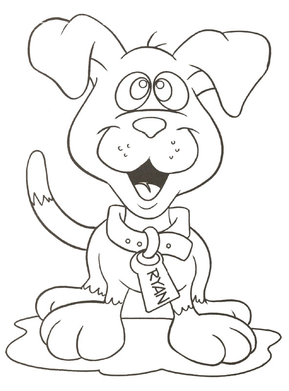 cute puppy coloring pages images - photo#17