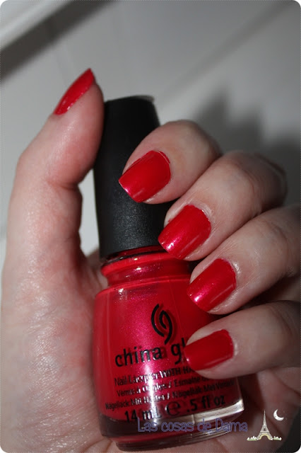 nailpolish; chinaglaze; red