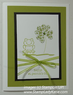 St. Patrick's Day card made with Stampin'UP! Stamp Set: Turtle and company. Made by StampLadyKatie