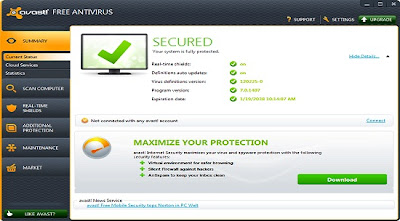 DOWNLOAD AVAST 7 ANTIVIRUS GRATIS