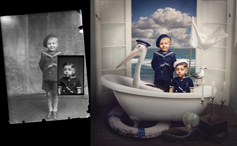 Antiguas fotos de la era de la primera guerra mundial transformadas en coloridas fotos de fantasía