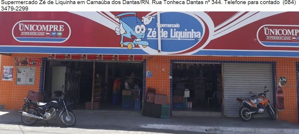 PUBLICIDADE: SUPERMERCADO ZÉ DE LIQUINHA CARNAÚBA DOS DANTAS/RN