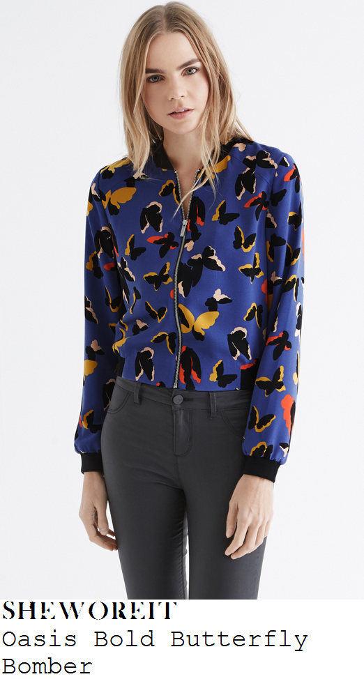 sam-faiers-blue-black-and-multi-butterfly-print-bomber-jacket-ferne-mccann-blog-launch
