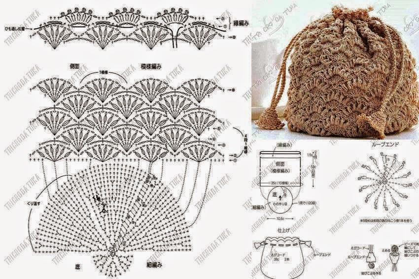 Linda bolsa tejida | Todo crochet