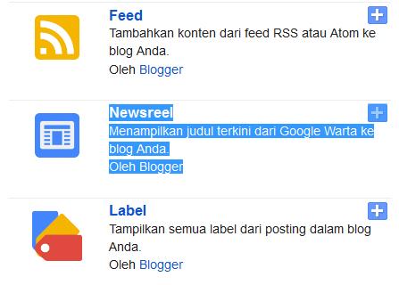 Cara Memasang-Menampilkan Berita-Newsreel Pada Blogspot-Blogger