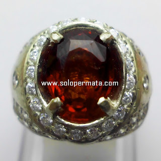 Batu Permata Natural Hessonite Garnet