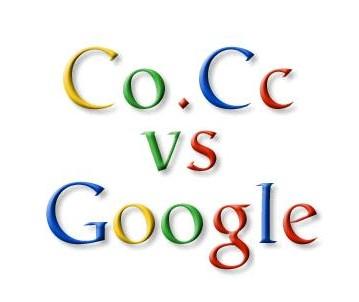 Google vs .Co.Cc