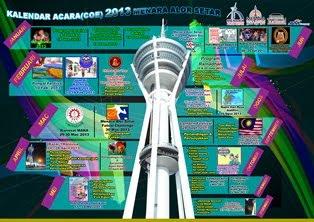 KALENDAR ACARA MENARA ALOR SETAR 2013