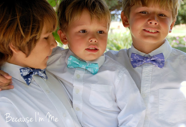 Because I'm Me boys blue, turquoise, and purple bow ties for Easter, spring, summer, weddings.