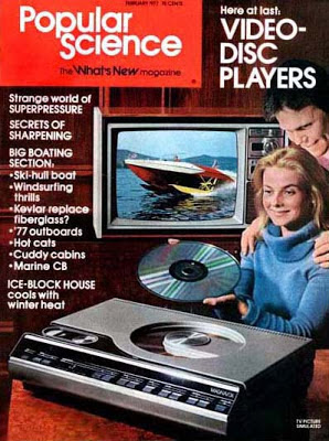 Laserdisc en la Portada de la revista Popular Science de Febrero de 1977