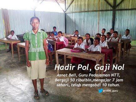 Guru Gaji 50ribu per Bulan