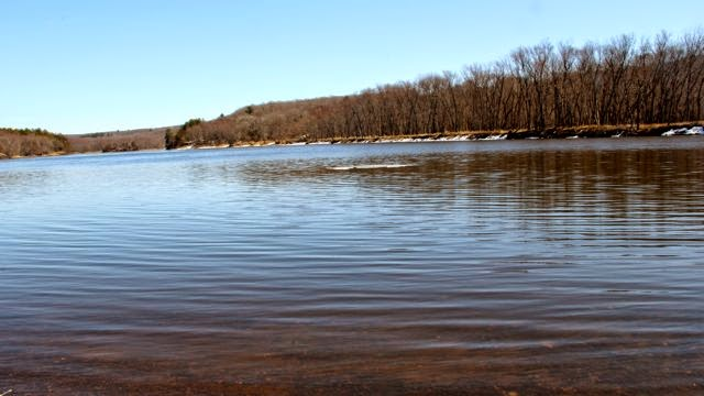 blue skies, blue water,  Spring on the St. Croix River