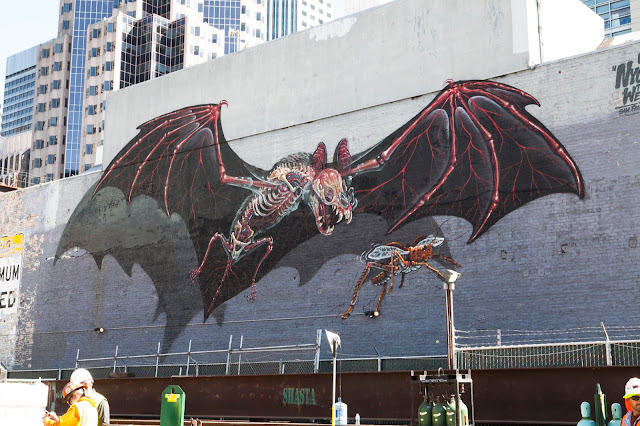 Nychos is currently in Northern California where he just finished working on a giant piece on the streets of San Francisco.