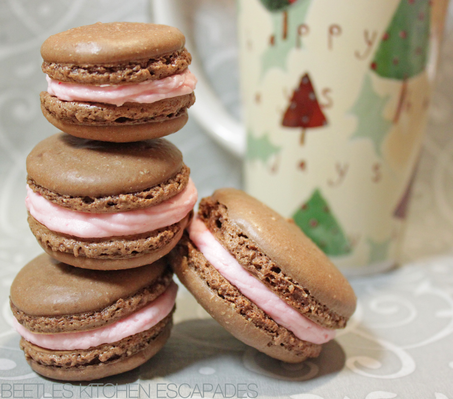 Beetle's Kitchen Escapades: Chocolate Peppermint French Macarons