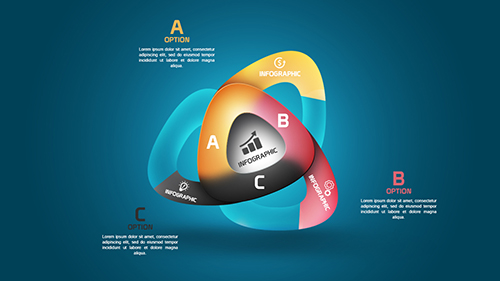 Photoshop Tutorial Graphic Design Infographic Abstract Rounded Triangles