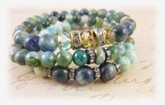Gemstone Triple stacking bracelets   https://www.etsy.com/shop/EarthEnergyGemstones?ref=l2-shopheader-name