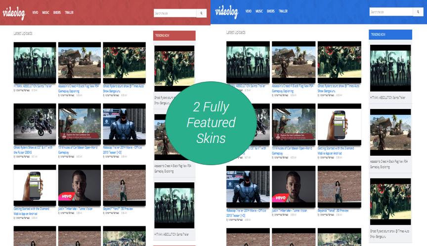 Videolog Blogger Premium Templates Free Download | SoraTemplates ...