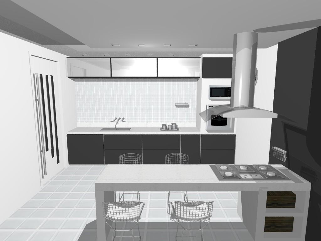 cozinha linear com lavanderia integrada cozinha bege projeto de loft #595851 1024 768