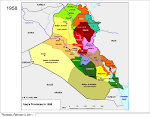 Iraq Provincial Map 1958