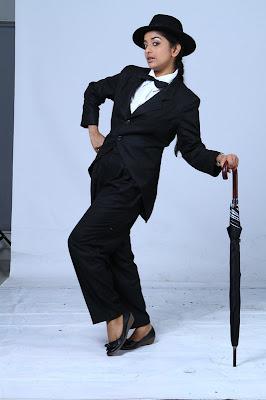 Meera Jasmine latest Photoshoot as Charlie Chaplin for Anbulla Kamal movie