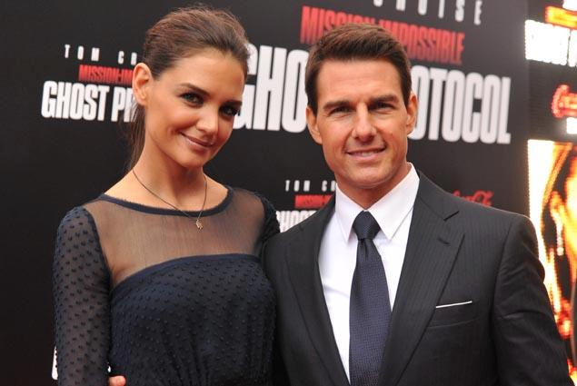 Tom Cruise with his wi...