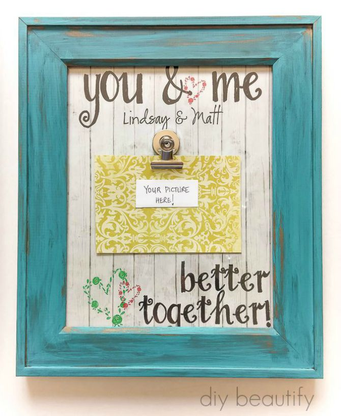 Create this fabulous, personalized Photo Clip Frame using basic items. Tutorial at diy beautify!