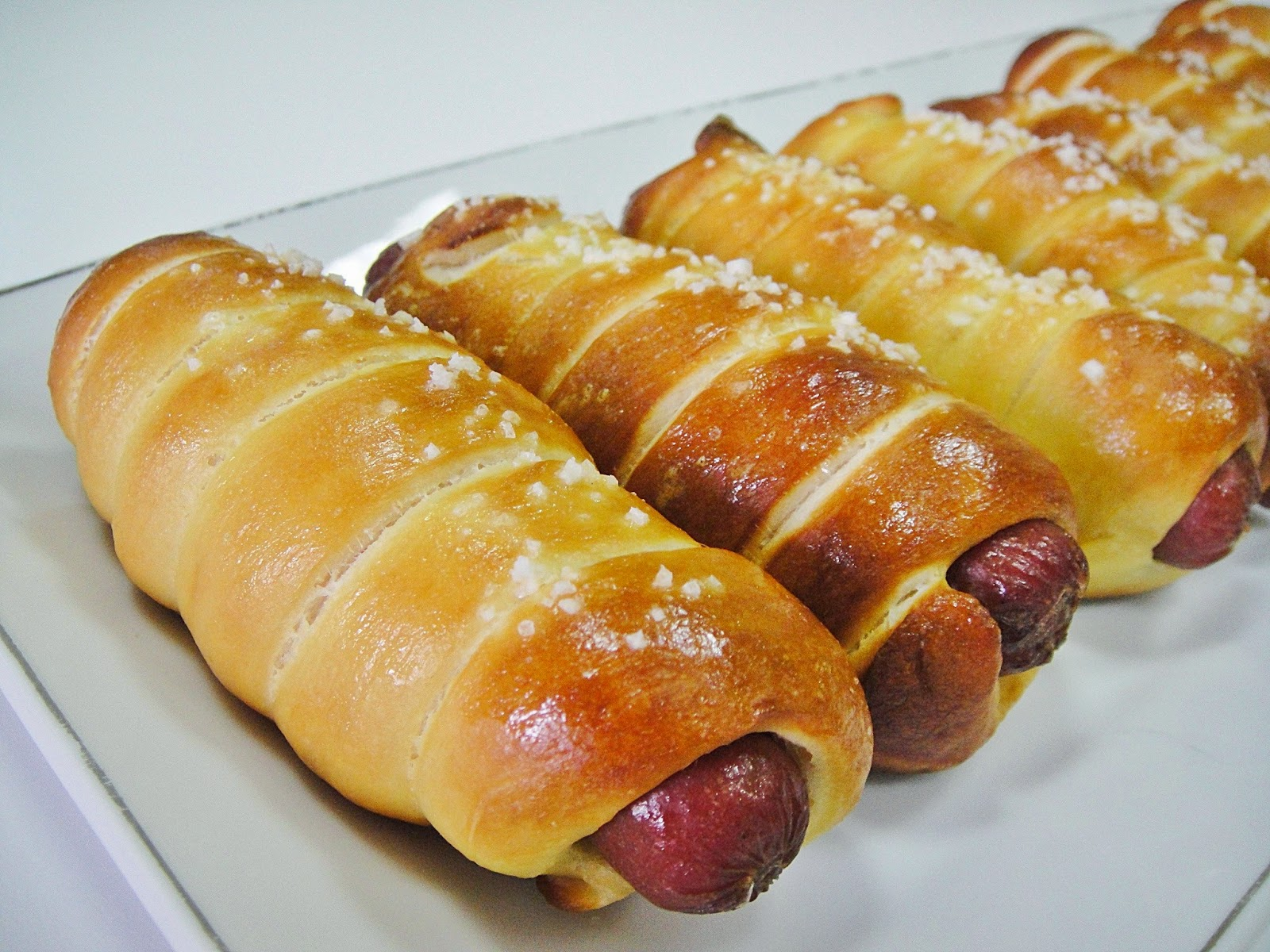 Hot Dogs Wrapped In Bread Dough