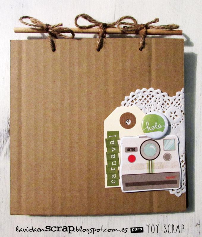 Como hacer un album de material reciclado fotos de papel for Como construir piletas de material