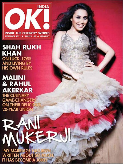 Rani Mukherji stunning photo shoot for OK! India