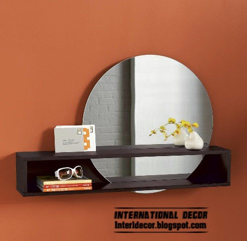 bathroom mirror with shelf, round mirror for bathroom