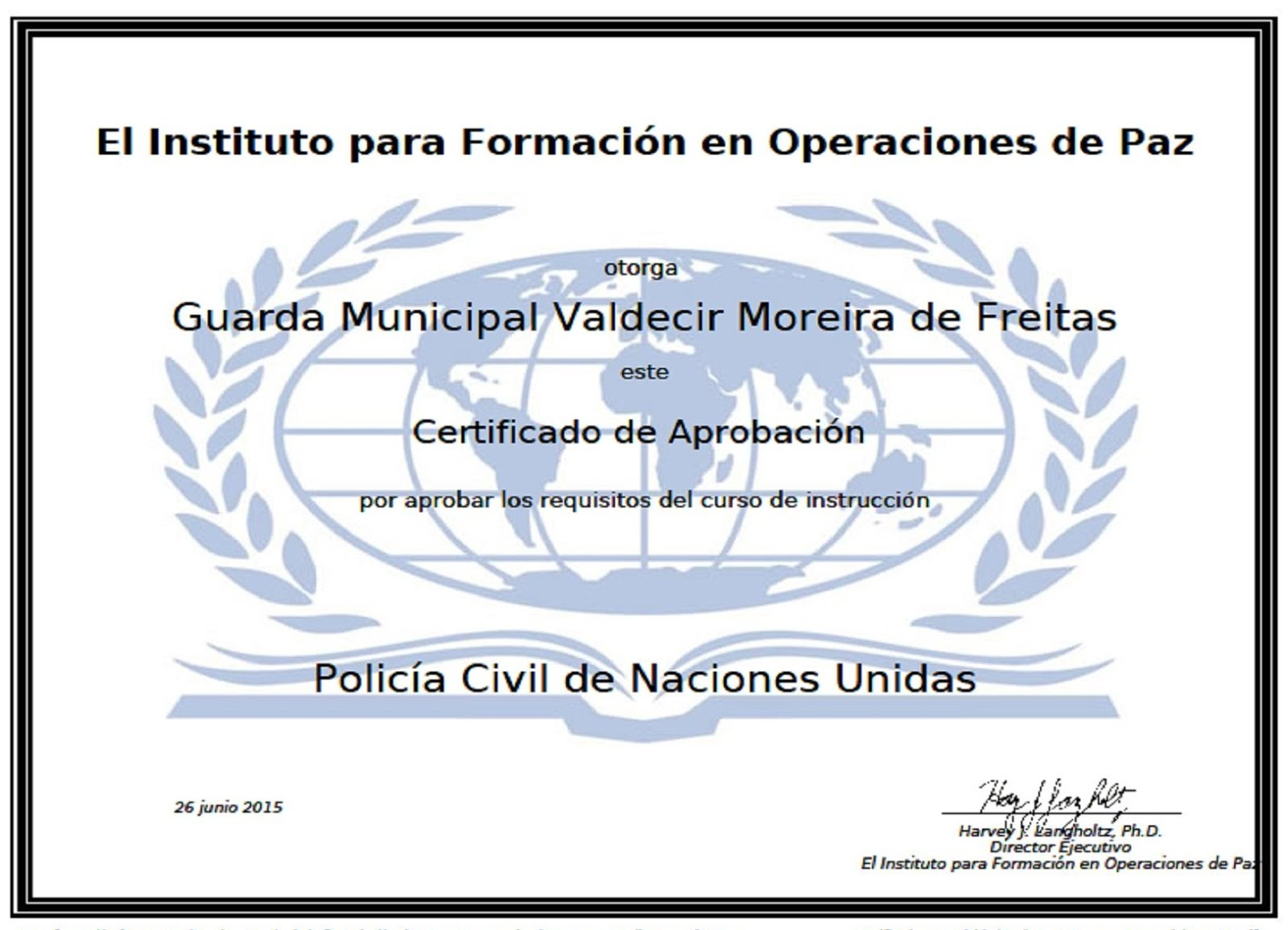 CURSO DE POLÍCIA CIVIL DA ONU