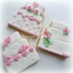 Biscotti a forma di wedding cake