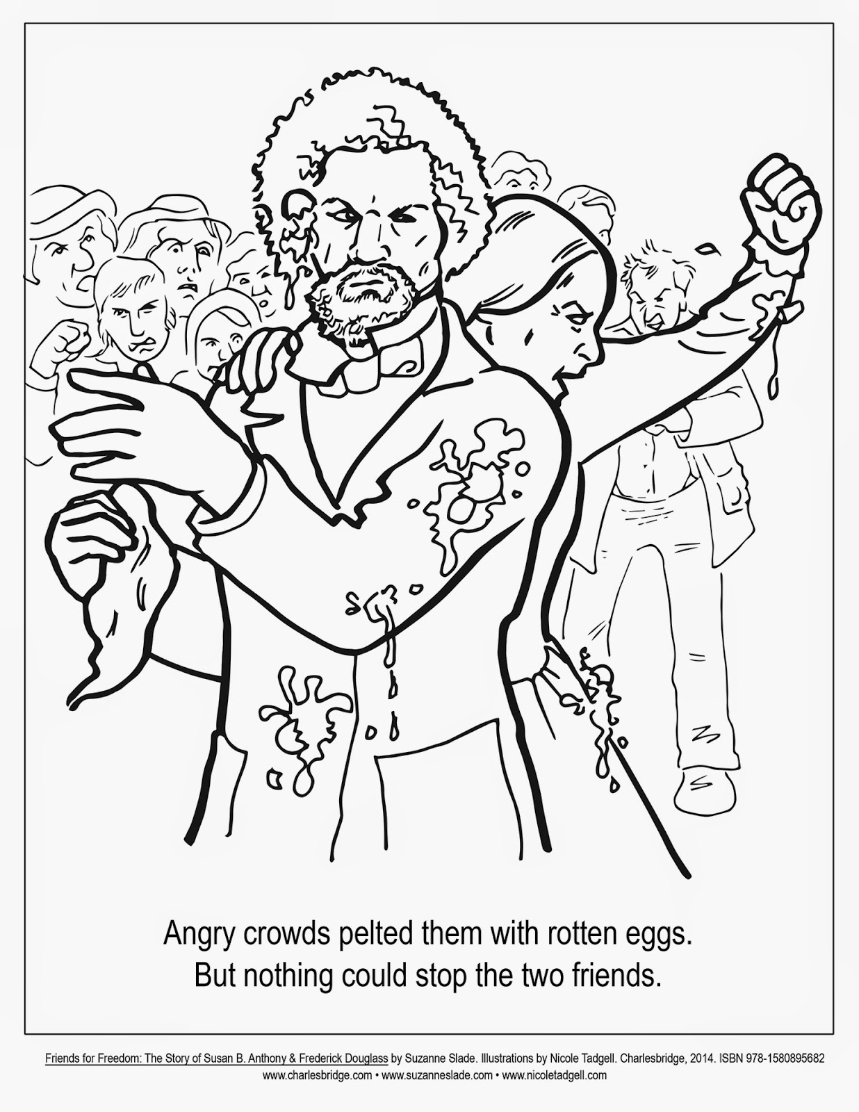 Nicole Tadgell Illustration: Coloring Pages for Friends for Freedom!
