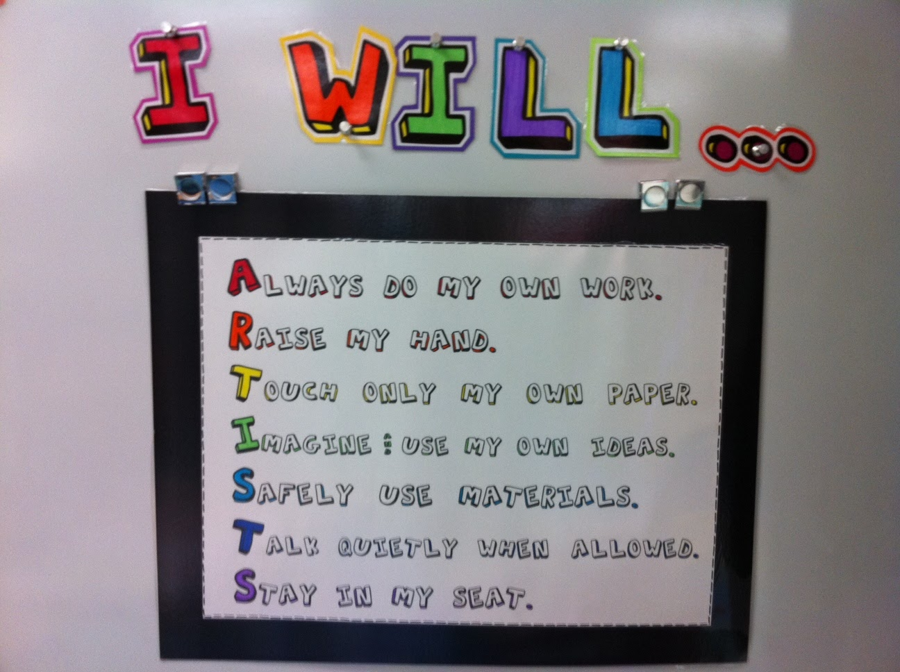 Elementary Classroom Rules ~ Apex elementary art august