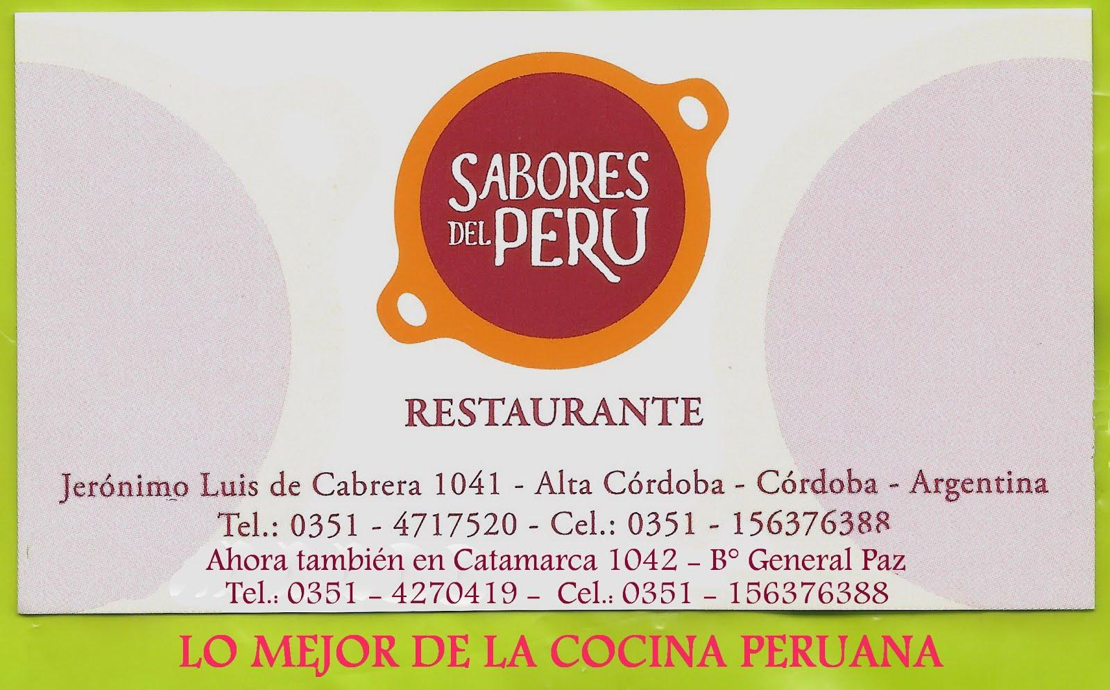 sabores del perú