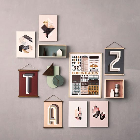 DIY: colgador para láminas de madera estilo nórdico