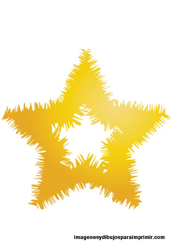 Estrellas doradas grandes para imprimir - Estrella para arbol de navidad ...