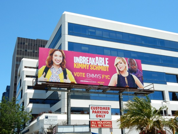 Unbreakable Kimmy Schmidt Emmy 2015 billboard