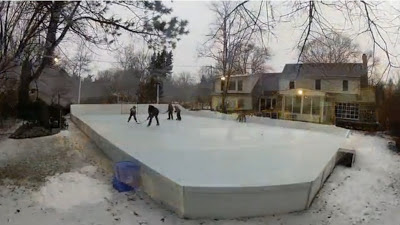 Backyard Chicago ice rink - click for video