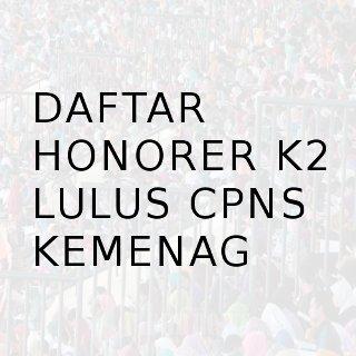 Lulus CPNS honorer K2 Kemenag