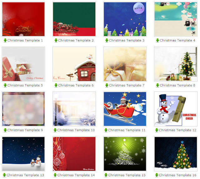 Christmas Xmas Free PowerPoint Template Backgrounds