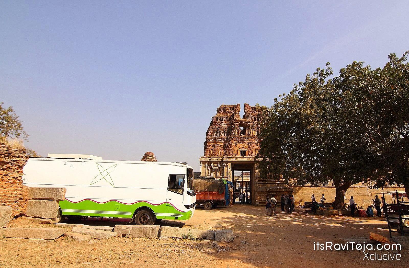 Ravi Teja's Kick2 Hampi on Location Stills