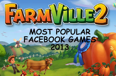 Top 10 List of Most Popular Facebook Games 2013