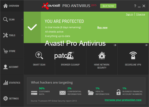 Avast Antivirus 2015 Patch License Key Portable Crack Free