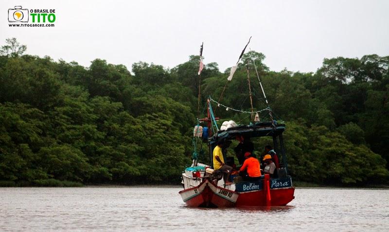 Encontro de pescadores na ilha de Maiandeua (Algodoal), no Pará