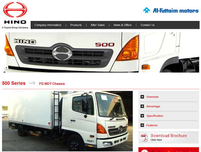 reputable distributor of Hino trucks in the UAE